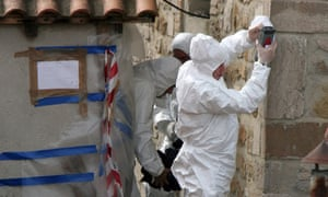 Forensic experts search a church in Potenza, Italy