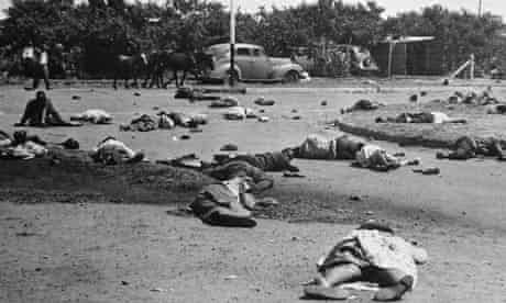 The aftermath of the 1960 Sharpeville massacre in South Africa