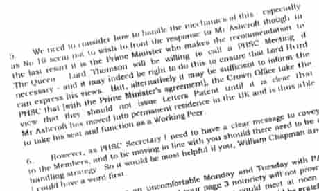 Extract from letter from Anthony Merifield to Hayden Phillips, 12 April 2000