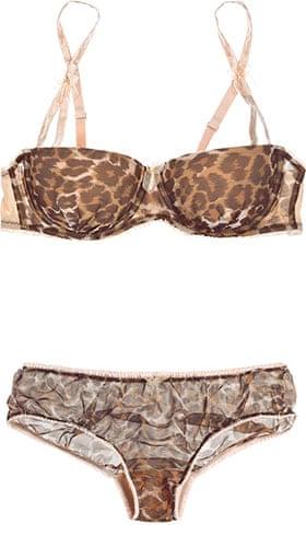 Key Trends: animal: bra and briefs