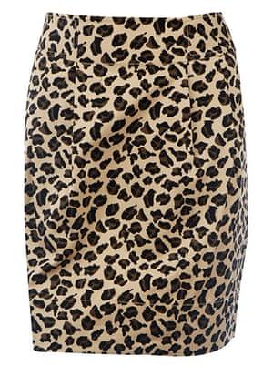 Key Trends: animal: print skirt