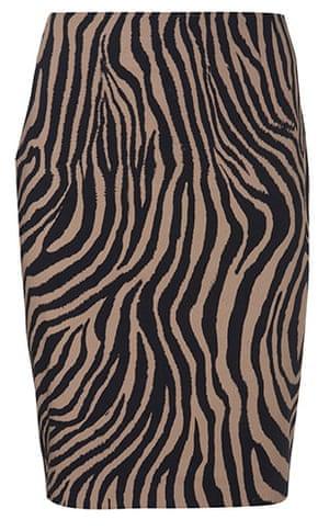 Key Trends: animal: Zebra print skirt