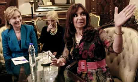 01.03.10 Hillary Clinton meets Cristina Fernandez de Kirchner