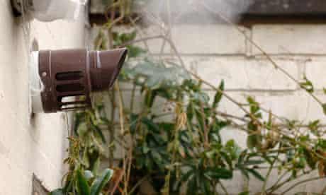 The flue of a Potterton condenser boiler