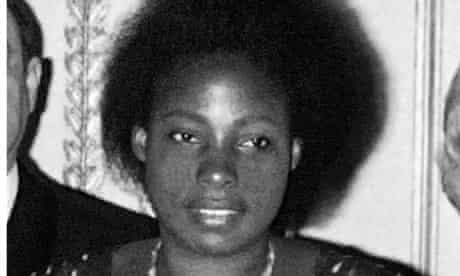 Agathe Habyarimana, pictured in 1977 in Paris