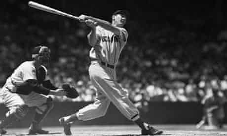 Ted Williams in action