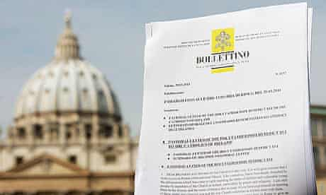 Pope Benedict XVI's pastoral letter to Irish Catholics is displayed in St Peters Square, Vatican