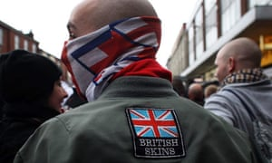 the english defence league hold demonstration in bolton