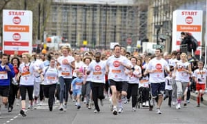 David Cameron running the Sport Relief mile