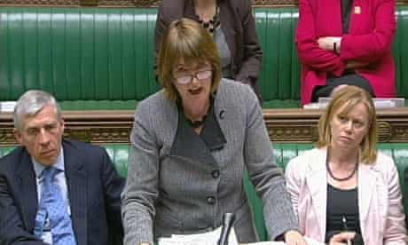 Harriet Harman speaking in the Commons on 22 March 2010.