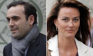 Nicolas Granatino and Katrin Radmacher at the supreme court.