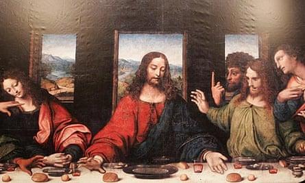 A reproduction of The Last Supper of Tongerlo by Leonardo da Vinci