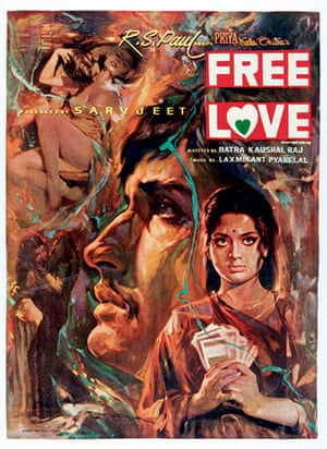 bollywood: Movie poster for Free Love, 1974