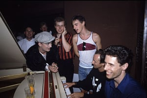 Paul Weller Timeline: Boy George and Paul Weller at a Style Council party