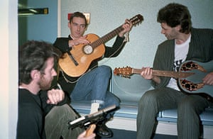 Paul Weller Timeline: Band Aid recording session with Bob Geldof and Paul Weller
