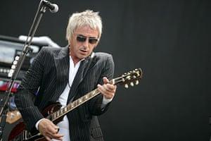 Paul Weller Timeline: Paul Weller performing at the Glastonbury Festival in 2007