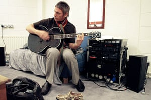 Paul Weller Timeline: Paul Weller backstage before a concert in February 2005