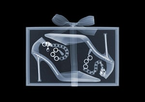 X-ray: Shoes in a box