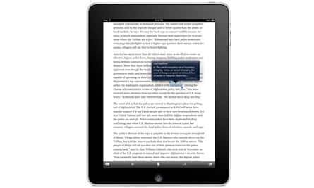 Instapaper's app for the iPad