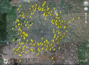 Beijing waste crisis: Google map