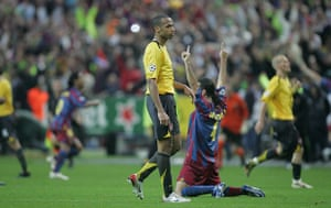 06 Champions League Final: Dejected Thierry Henry On The Final Whistle