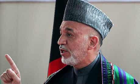 Hamid Karzai, the Afghan president