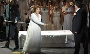 A dress rehearsal for Götterdämmerung, which will open the Salzburg Easter festival