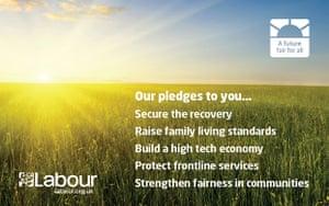 Labour pledge card: Labour pledge card front