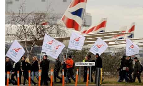 British Airways cabin crew on strike