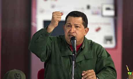 Venezuelan President Hugo Chavez speaks