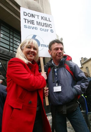 Save 6 Music protest: DJs Liz Kershaw (left) and Andy Kershaw