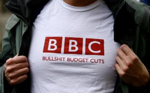 Save 6 Music protest: A 6 Music fan sports a T-shirt protesting against BBC budget cuts