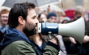 Save 6 Music protest: Adam Buxton makes a speech