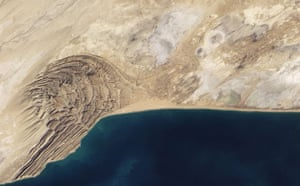 Satellite Eye: Mud volcano of the Chandragup Complex Along the coast of Pakistan