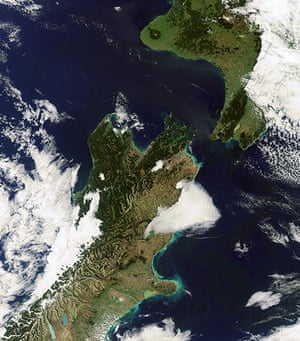 Satellite Eye: New Zealand's North and South Islands, separated by the Cook Strait