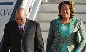 Jacob Zuma arrives at Heathrow on 2 March