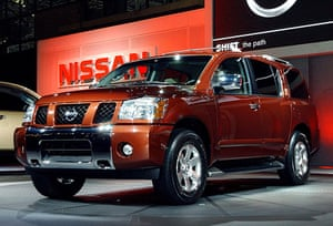 Recalled cars: Nissan Pathfinder Armada at the New York International Auto Show