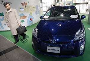 Recalled cars: Toyota Motor Corp's Prius hybrid at its showroom in Tokyo