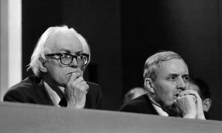 Michael Foot and Tony Benn in 1980.