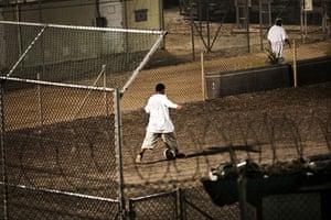 Guantanamo Bay: Detainees wake up at night and play soccer before the morning prayer