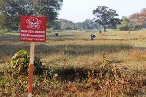 landmines: landmines sri lanka