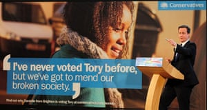 Election posters: David Cameron launches I've never voted Tory before poster