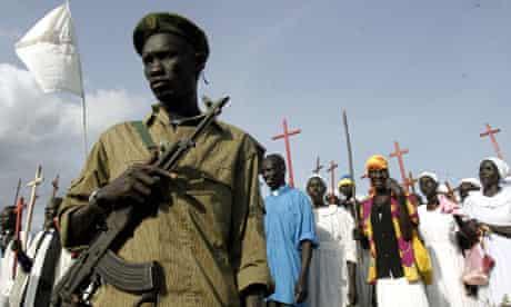 A SPLM soldier stands in Sudan