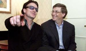 Bono and Bill Gates