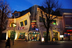 Funny buildings: Crooked House (Krzywy Domek), Sopot, Poland