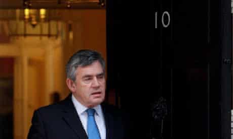 Gordon Brown outside 10 Downing Street