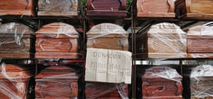 Chile Aid: Coffins donated by the municipality for the earthquake victims in Chile