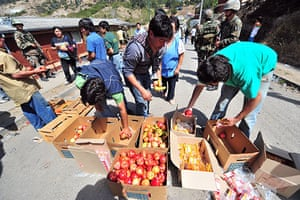 Chile Aid: Food is being distributed to the residents in Constitucion, Chile