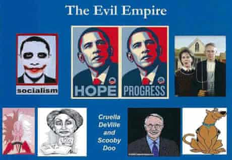 Republican document depicting Obama as the Joker