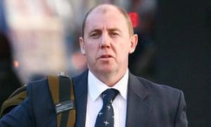 Paramedic Karl Harris, 45, arrives at Lewes crown court.